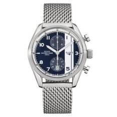 Elysee Male Watches Magny Court Jam Tangan Pria - Silver - Strap Leather Strap - 70950M