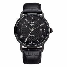 Elysee Watches - Jam Tangan Pria - Leather - 77007 - Monumentum Automatic (Black)