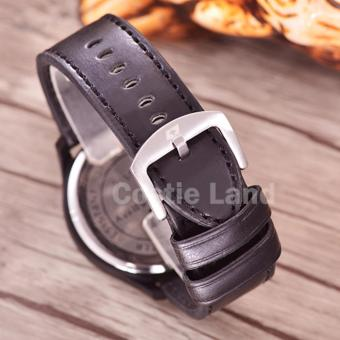 Leather Strap Source Jual Emerson Jam Tangan Pria Body Black Black Blue Dial .