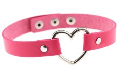 EOZY Vintage PU Leather Love Heart Choker Necklace Gothic Collar Women Chain & Bracelets Charm Jewelry (Fuchsia) - Intl