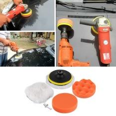 ERA 6pcs 5 inch Polishing Sponge Buffer Pad M10 Drill Adapter Kit For Car Auto
