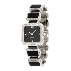 Esprit Watch UHR Black Stainless-Steel Case Stainless-Steel Bracelet Ladies NWT + Warranty EL101162F01