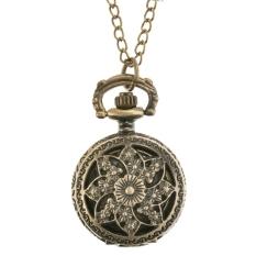 ETOP Steampunk Quartz Necklace Pendant Chain Clock Pocket Watch (Multicolor) (Intl)
