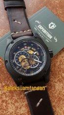 Expedition 6679 Hitam - Automatic - Jam Tangan Pria - Tali Kulit - Hitam