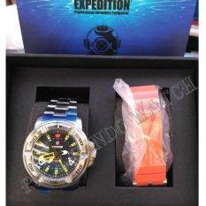 Expedition 6711 Silver - Jam Tangan Pria - Jam Tangan Sport - Karet - Rubber (Silver)