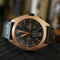 Expedition E6665M Leather Strap Hitam