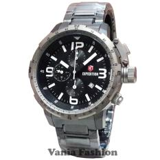 Expedition E6709MC Jam Tangan Pria Stainless Steel Silver