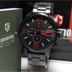 Expedition Jam Tangan Pria Expedition E6386M Black Stainless Steel Dial Red Chronograph