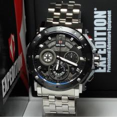 Expedition Jam Tangan Pria Expedition E6402MC Chronograph Silver Stainless Steel List Black