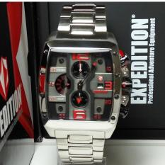 Expedition Jam Tangan Pria Expedition E6636MC Chronograph Silver List Red Stainless Steel