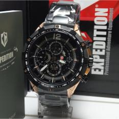 Expedition Jam Tangan Pria Expedition E6721MC Chronograph Rosegold Black Stainless Steel