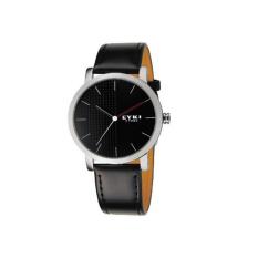 EYKI 8410 Vintage Man's Vintage Round Dial Quartz Wrist Watch With PU Band Black