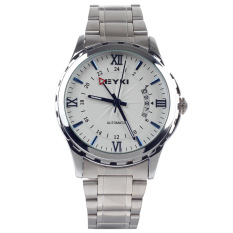 EYKI EFL8552AG Stylish Men's Full Automatic Mechanical Wrist Watch W / Simple Calendar (Silver)