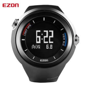 EZON GPS Tracker Outdoor Running Bluetooth 4.0 Smart Digital Watch Pedometer Altimeter Thermometer Sport Clock for IOS Android (Black) - intl