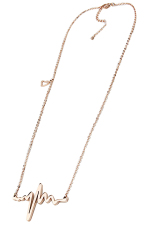 Fang Fang Heart Beat Pendant Necklace (Gold)