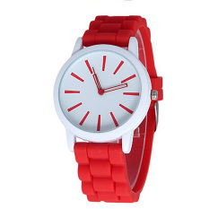 Fashion & Casual Unisex Women Mens Boys Girls Silicone Jelly Sports Quartz Wrist Watch New Relojes Mujer (Intl)