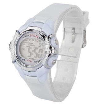 Fashion Children Digital LED Quartz Alarm Date Sports Wrist Watch WH - intl