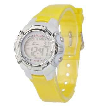 Fashion Children Digital LED Quartz Alarm Date Sports Wrist Watch YE - intl