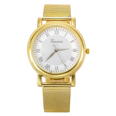 Fashion Classic Alloy Quartz Watch Women Ladies Girl Analog Wrist Watches (Gold) (Intl)