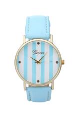 Women's Luxury Brand WristWatch Fashion Ladies Watch Gold Vertical Stripes Clock Women Dress Watches (Violet) (Intl)