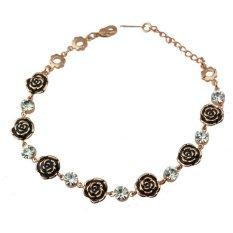 Fashion Fine Alloy Rose Multicolor Crystal Bracelets Environmental Protection Tin Alloy Bracelets (Intl)