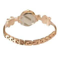 Fashion Four Leaf Clover Daisies Flower Rose Gold Bracelet Wrist Watch Women Gir White (Intl)