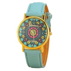 Fashion Geneva Watch Women Dress Watch Quartz Watch Blue (Intl)