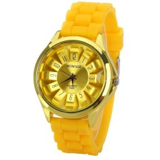 Fashion Ladies Sports Silicone Jelly Watch 9 Colors Quartz Watch For Women Relojes Mujer (Intl)
