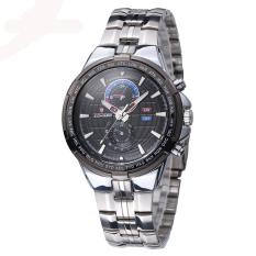Fashion LONGBO Man Sport Army Military Wristwatch Mans Steel Strip Quartz Watch Watches 80225