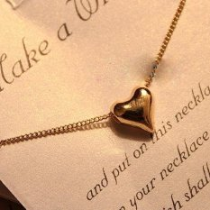 Fashion Lovely Sweet Gold Tone Heart Shape Chain Necklace Pendant Gift