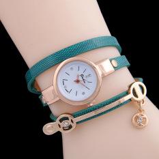 Fashion New Summer Style Leather Casual Bracelet Watch Wristwatch Women Dress Relogios Femininos Sky Blue