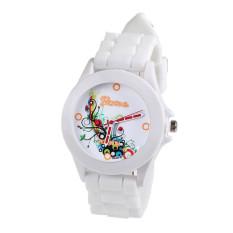 Fashion Silicone Rubber Jelly Gel Quartz Analog Sports Women Wrist Watch (Intl)