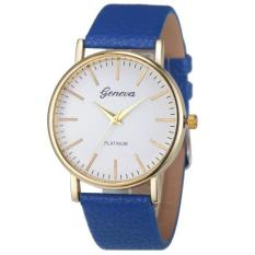 Fashion Simple Leisure Women Analog Leather Quartz Wrist Watch Blue