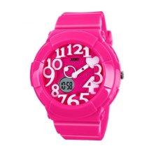 Fashion Sports Man Wrist Watch Outdoor Sports Watches 1020 Pink (Intl)