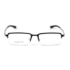 Fashion Stallane miopia bingkai kacamata Optik kacamata polos aluminium kacamata setengah bingkai kacamata bisnis untuk pria dengan wajah kecil ?hitam ?