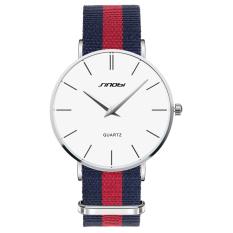 Fashion Top Luxury Brand SINOBI Watches Men Fabric Quartz-Watch Ultra Thin Dial Clock