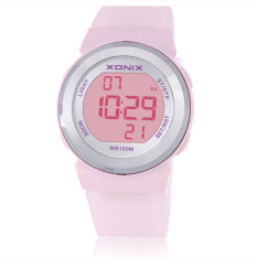 Fashion Women Sports Watches Waterproof 100m Ladies Jelly LED Digital Watch Swimming Diving Hand Clock (Pink)