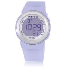 Fashion Women Sports Watches Waterproof 100m Ladies Jelly LED Digital Watch Swimming Diving Hand Clock (Purple)