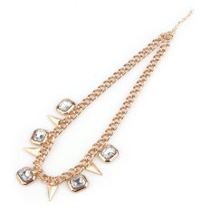 Fashion Womens Laies Necklace Alloy Collar Chain Beauty Necklace with 2 Styles Pendant Neck Chain