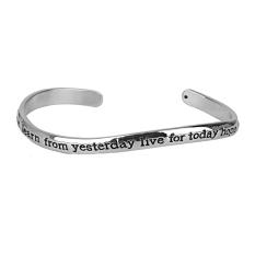 Generic Fashion Womens Silver Alloy Bohemia Cuff Bracelet Open Bangle Jewelry Gift