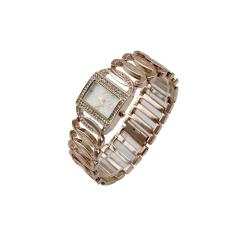 Fashionable Rhinestone Chain Bracelet Square Face Quartz Lady Wrist Watch