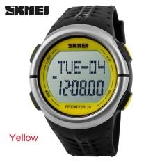 Five Star Store SKMEI Unisex Sport 50M Waterproof Heart Rate Pedometer Wrist Watch - Intl