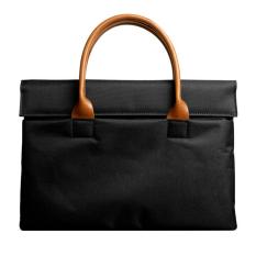 For Apple Macbook Buttoned Bladder Bag Air / Pro Felt Protective Sleeve (Black) (13 Inch) - Intl