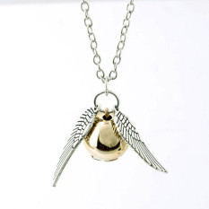 FOR Harry Potter And The Deathly Hallows Necklace Gold Snitch Silver