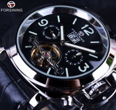 Forsining Genuine Leather Luxury Brand Design Men Luxury Automatic Tourbillon Sport Casual Military Watch Clock