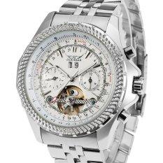 Forsining Luxury Tourbillion Automatic Mechanical Men's Watch With Brass Band Flywheel (Intl)