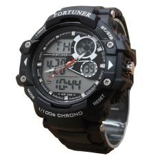 Fortuner Sport Dual Time - Jam Tangan Pria - Rubber - AD1602Black