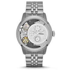 Fossil Automatic Chronograph Jam Tangan Pria - Stainless - Silver - Fossil ME1134 (One Size)