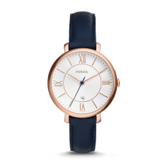 Fossil ES3843 - Jacqueline Navy Leather Watch