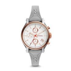 Fossil ES4045 - Original Boyfriend Sport Chronograph Iron Leather Watch